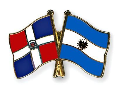 Crossed Flag Pins Dominican-Republic-El-Salvador
