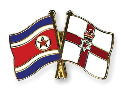 Crossed Flag Pins North-Korea-Northern-Ireland