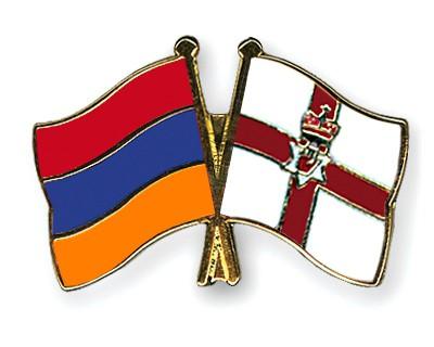 Crossed Flag Pins Armenia-Northern-Ireland