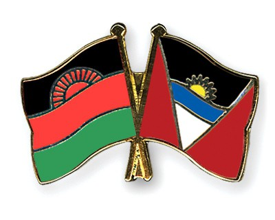 Crossed Flag Pins Malawi-Antigua-and-Barbuda