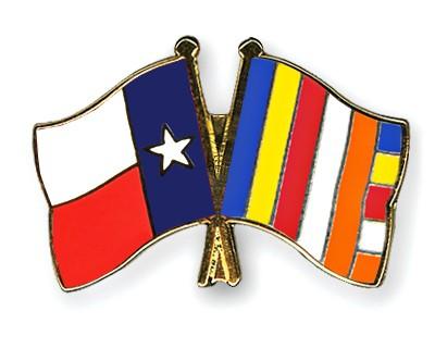 Crossed Flag Pins Texas-Buddhism