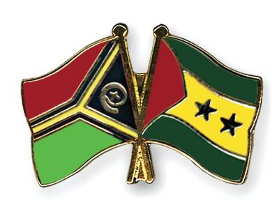 Crossed Flag Pins Vanuatu-Sao-Tome-and-Principe
