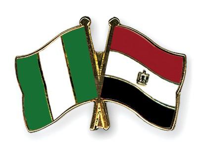 Crossed Flag Pins Nigeria-Egypt