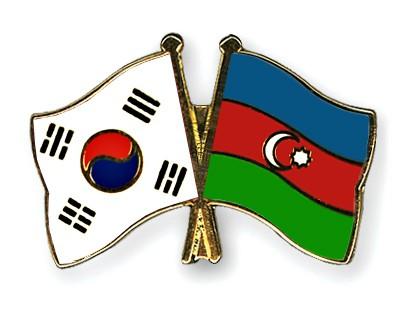 Crossed Flag Pins South-Korea-Azerbaijan