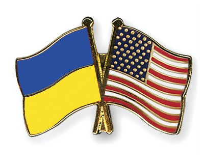 Special Offer Crossed Flag Pins Ukraine-USA