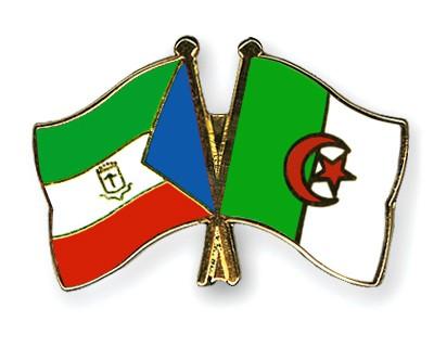 Crossed Flag Pins Equatorial-Guinea-Algeria