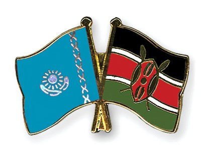 Crossed Flag Pins Kazakhstan-Kenya