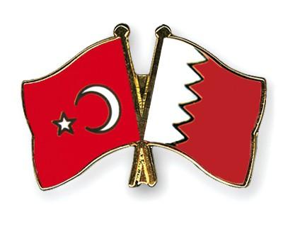 Crossed Flag Pins Turkey-Bahrain
