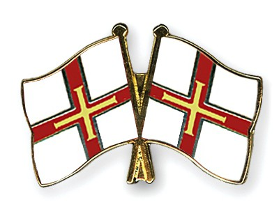Crossed Flag Pins Guernsey-Guernsey