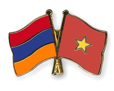 Crossed Flag Pins Armenia-Vietnam