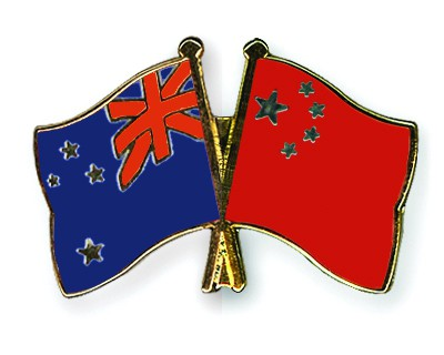 Crossed Flag Pins New-Zealand-China