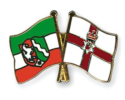 Crossed Flag Pins North-Rhine-Westphalia-Northern-Ireland