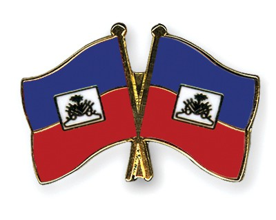 Crossed Flag Pins Haiti-Haiti