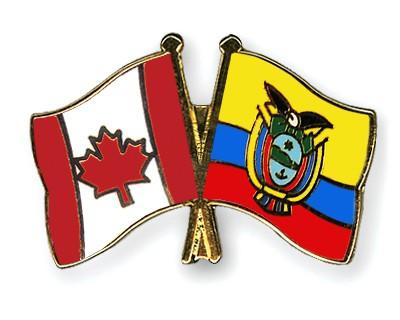 Special Offer Crossed Flag Pins Canada-Ecuador