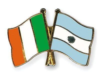 Crossed Flag Pins Ireland-Argentina