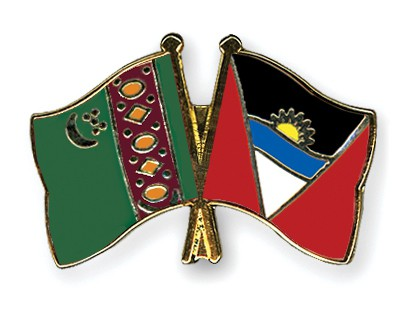 Crossed Flag Pins Turkmenistan-Antigua-and-Barbuda