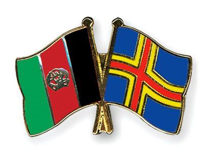 Crossed Flag Pins Afghanistan-Aland