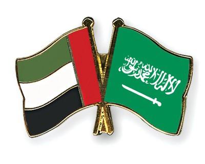 Crossed Flag Pins United-Arab-Emirates-Saudi-Arabia