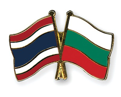 Special Offer Crossed Flag Pins Thailand-Bulgaria