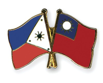 Crossed Flag Pins Philippines-Taiwan