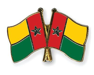 Crossed Flag Pins Guinea-Bissau-Guinea-Bissau