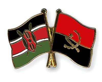 Crossed Flag Pins Kenya-Angola