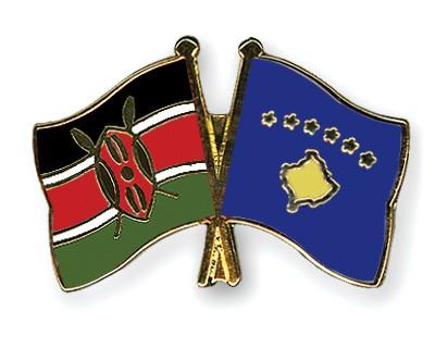 Crossed Flag Pins Kenya-Kosovo
