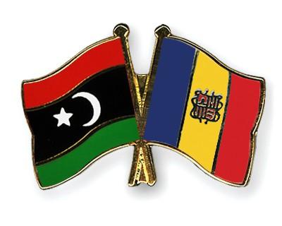 Crossed Flag Pins Libya-Andorra
