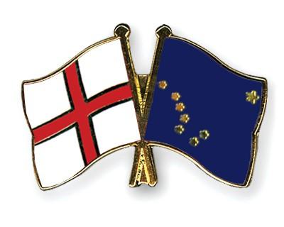 Crossed Flag Pins England-Alaska