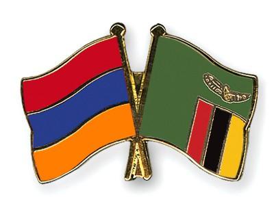 Crossed Flag Pins Armenia-Zambia