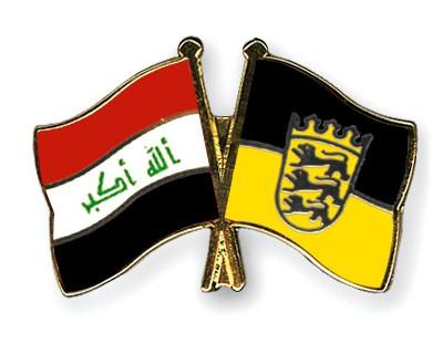 Crossed Flag Pins Iraq-Baden-Wuerttemberg