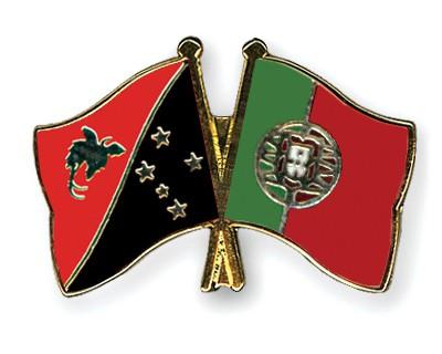Crossed Flag Pins Papua-New-Guinea-Portugal