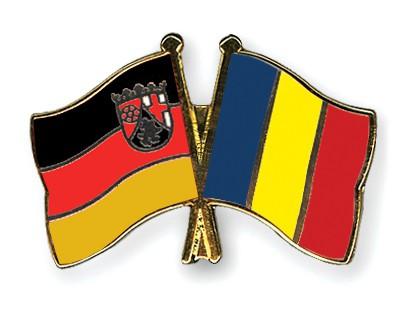 Crossed Flag Pins Rhineland-Palatinate-Romania