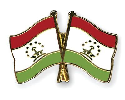 Crossed Flag Pins Tajikistan-Tajikistan