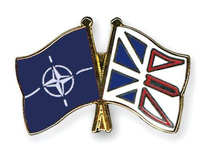 Crossed Flag Pins NATO-Newfoundland-and-Labrador