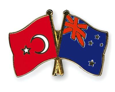Crossed Flag Pins Turkey-New-Zealand
