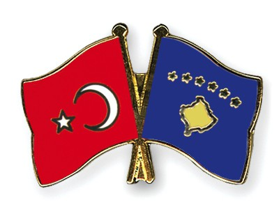 Crossed Flag Pins Turkey-Kosovo