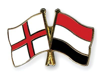 Crossed Flag Pins England-Yemen