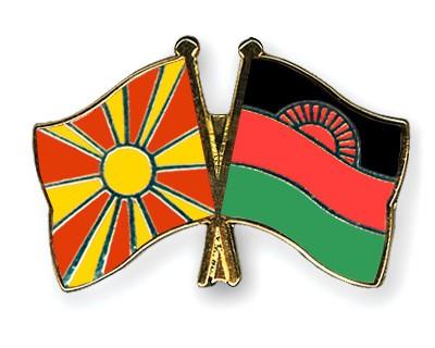 Crossed Flag Pins Macedonia-Malawi