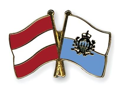 Special Offer Crossed Flag Pins Austria-San Marino