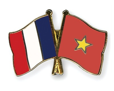 Special Offer Crossed Flag Pins France-Vietnam
