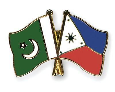 Crossed Flag Pins Pakistan-Philippines