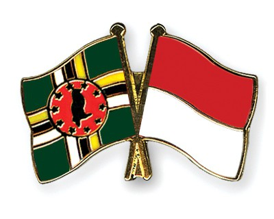 Crossed Flag Pins Dominica-Indonesia