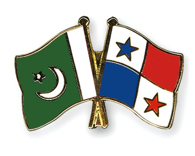 Crossed Flag Pins Pakistan-Panama