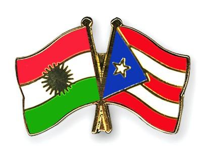 Crossed Flag Pins Kurdistan-Puerto-Rico