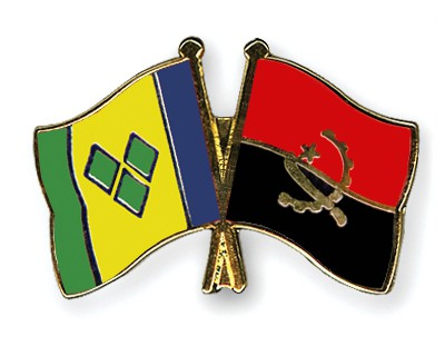 Crossed Flag Pins Saint-Vincent-and-the-Grenadines-Angola