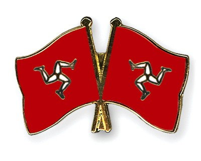 Crossed Flag Pins The-Isle-of-Man-The-Isle-of-Man