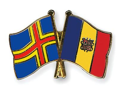 Crossed Flag Pins Aland-Andorra