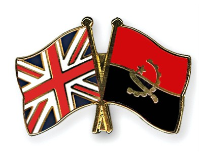Crossed Flag Pins Great-Britain-Angola