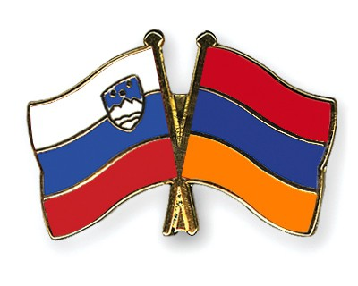 Crossed Flag Pins Slovenia-Armenia